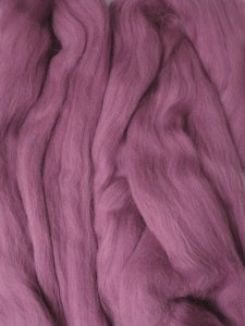 Merino Wool Roving color Berry