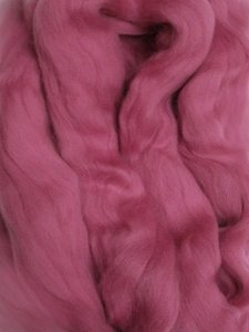 Merino Wool Roving color Fucshia