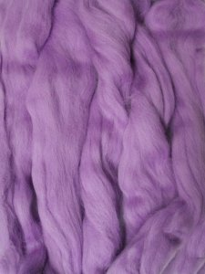 Merino Wool Roving color Lilac