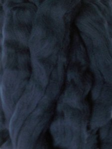 Merino Wool Roving color Midnight Blue