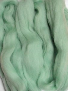 Merino Wool Roving color Mint