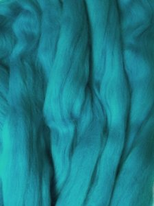 Wool Roving color Peacock