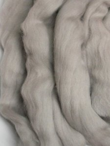 Merino Wool Roving color Pewter