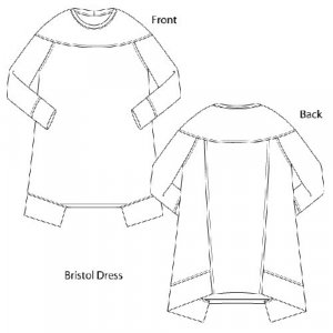 Sewing Workshop Collection - Bristol Dress & Top - Dress drawings