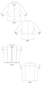 Sewingworkshop Siena & Cortona Shirts pattern