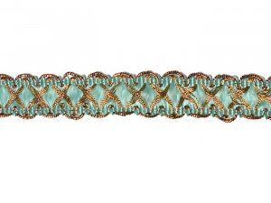 Metallic Trim #320- Aqua