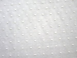 VF132-07 Patricia Dots - White Cotton Dotted Swiss Batiste Fabric