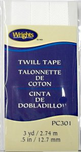 Wrights Twill Tape #301- White #030