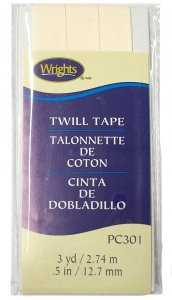 Wrights Twill Tape #301- Oyster #028