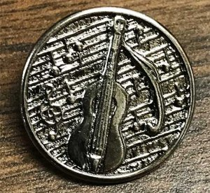 Dill Button - Metal Violin with Shank