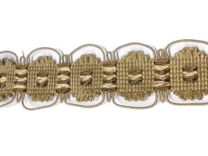 Fancy Woven Dark Beige Trim #320 - For Home Decor and Upholstery - Dark Beige