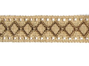 Fancy Woven Beige Trim #65 - For Home Decor and Upholstery - Beige
