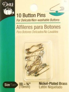 Dritz #73 Button Pins, 10 Count.