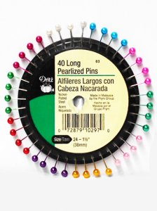 Dritz #63 Long Pearlized Pins - 40 count