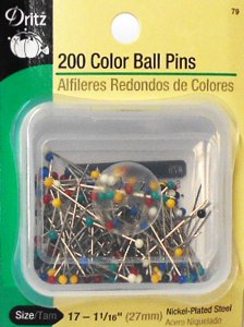 Dritz #79 Color Ball Pins - 200 count