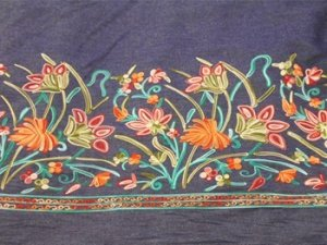 Embroidered Denim Fabric #67211 - #01