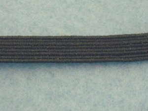 "Wholesale Flat Braided Elastic 1040 - Black 1/4""  144yds ***Temporarily out of stock***"