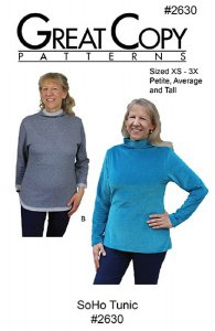 Great Copy #2630 SoHo Tunic Sewing Pattern - cover