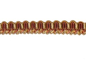 Wholesale Fancy Gimp Trim #03 - For Home Decor and Upholstery - Gold & Rust- 27 yards(25meters)