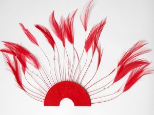 Beaded Half Hackle Plate - Red