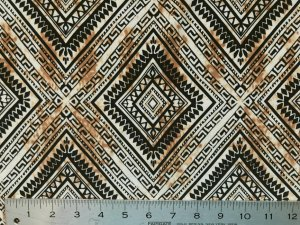ITY Knit Prints - Tan Diamond