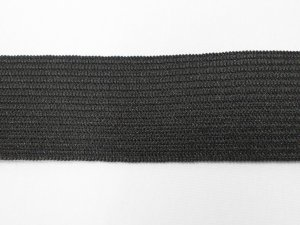 "Wholesale Elastic - Knitted Non-Roll - 1"" Black  50 yards"