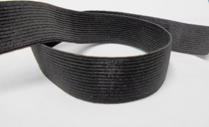 "Knitted Non-Roll Elastic - 1"" Black"