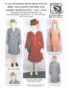 Laughing Moon #139 - WWII Red Cross Uniform & Ladies Skirted Suit- C. 1941-1946