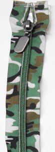 Lorna - 18 inch Separating Zipper - Camo Forest