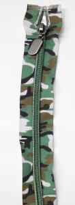Lorna - 24 inch Separating Zipper - Camo Forest