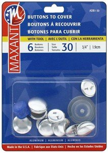Maxant Buttons to Cover - Size 30 Kit