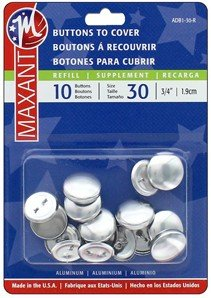 Maxant Buttons to Cover - Size 30 Refill