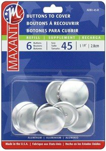 Maxant Buttons to Cover - Size 45 Refill