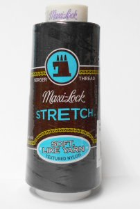 Maxi-Lock Stretch Serger Thread - Black