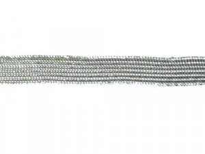 "Metallic Middy Braid Trim 064A - 3/8"" - Silver"