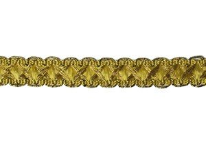 Louisa Metallic Braid - Trim #320 - Antique Gold with Metallic Gold