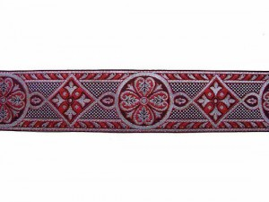 Wholesale Royal Brocade - Red and Silver, 27 meters