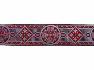 Trim - Royal Brocade - Red and Silver