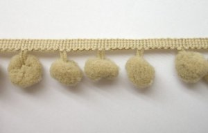"Wholesale Ball Fringe 1"" - Beige 299   18 yards"