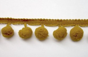Ball Fringe - Old Gold Pom Pom Trim