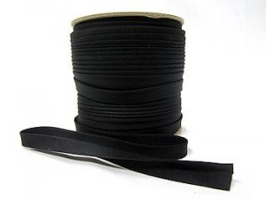 "Extra Wide Double Fold Bias Tape - Black - 1/2"" finished"