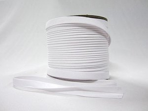 "Extra Wide Double Fold Bias Tape - Super White - 1/2"" finished"