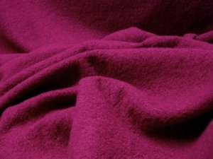 Wool Blend Bouclé Fabric -  Light Texture Coating - Raspberry #11