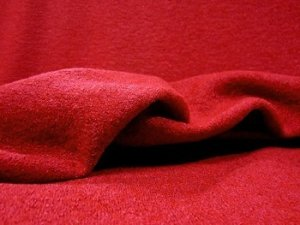 Wool Blend Bouclé Fabric -  Light Textured Coating - Red #5