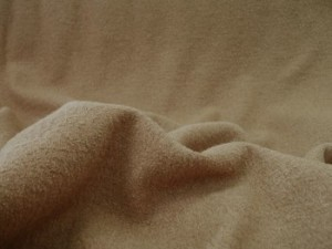 Wool Blend Bouclé Fabric -  Light Textured Coating -  Camel #25