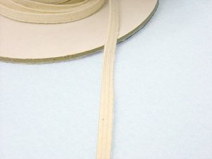 Braided Cotton Elastic 1204 - Natural 1/4""