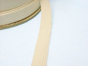 Braided Cotton Elastic 6601 - Natural 1/2""