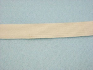 "Wholesale Braided Cotton Elastic 6601 - Natural 1/2""   144yds"