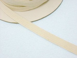 Braided Cotton Elastic 7737 - Natural 3/8""