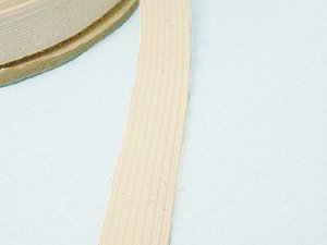 Braided Cotton Elastic - Natural 3/4""
